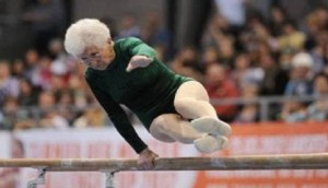 87 year old gymnast