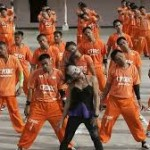inmates in The Philippines dancing