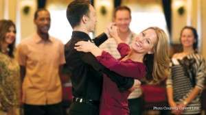 ballroom dancers on a cruise